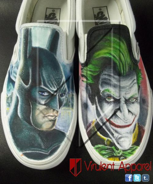 batman vans slip on