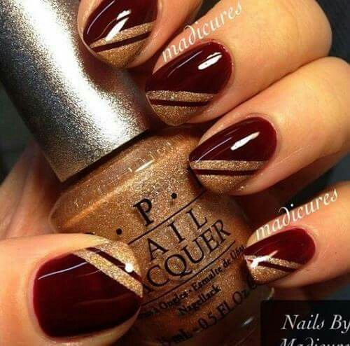 The design not the color nails pinterest nail nail the design not the color red and gold nailsburgundy prinsesfo Choice Image