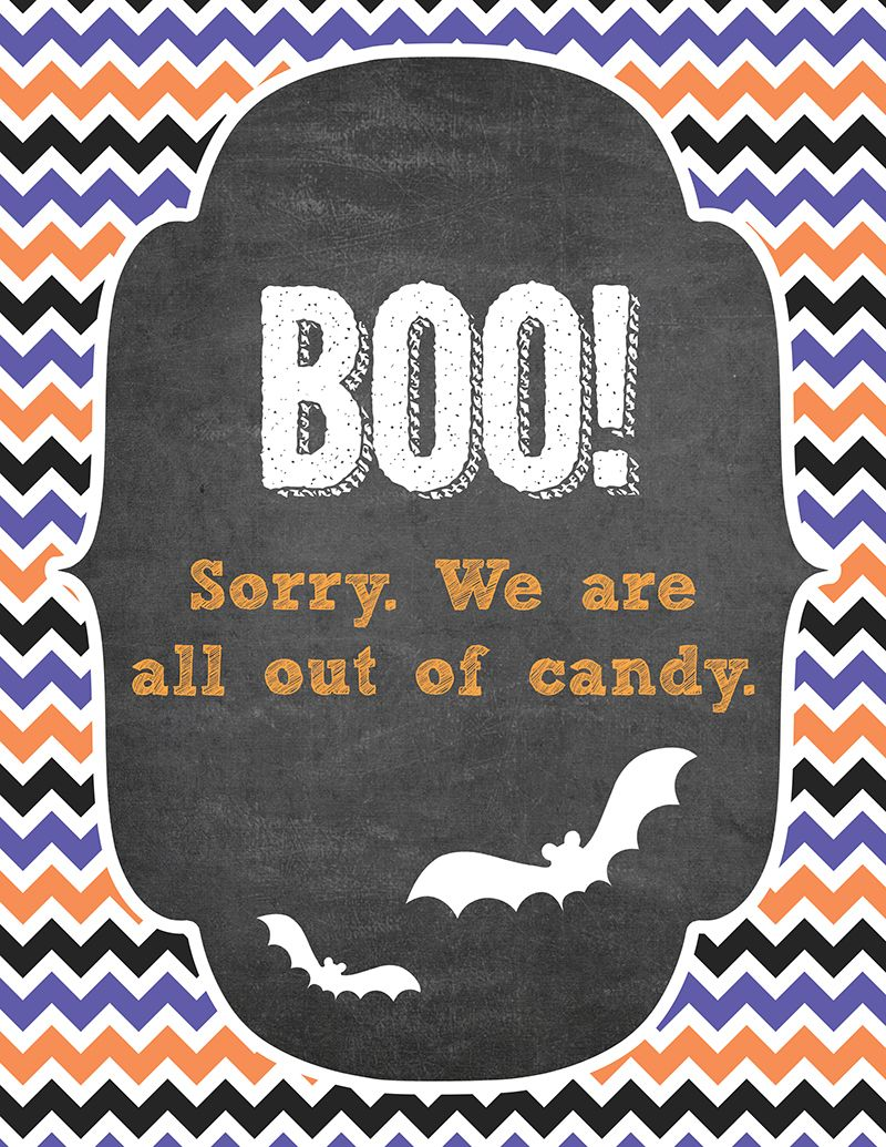 free halloween trick or treater signs these prints