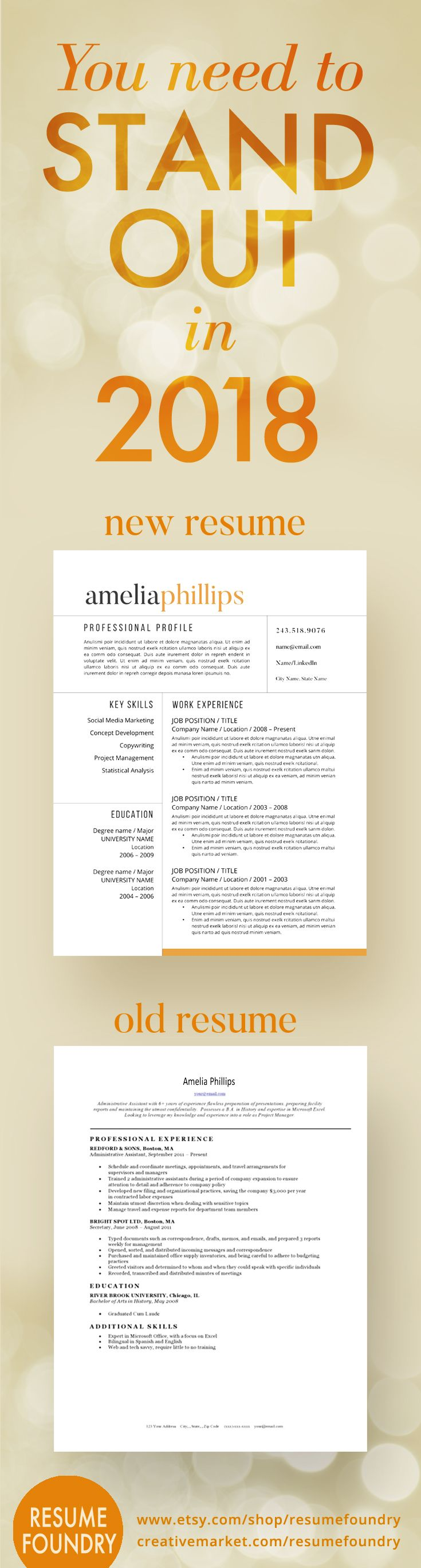 2018 Resume Templates This Resume Template Will Standout From The Sea Of Applicants