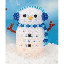 Snowflake Snowman Bubble Beads Kit - Herrschners