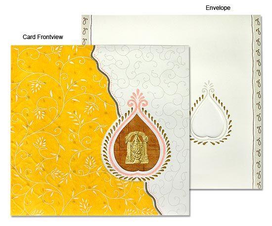 Elegant South Indian Wedding Invitations #WeddingInvitations ...