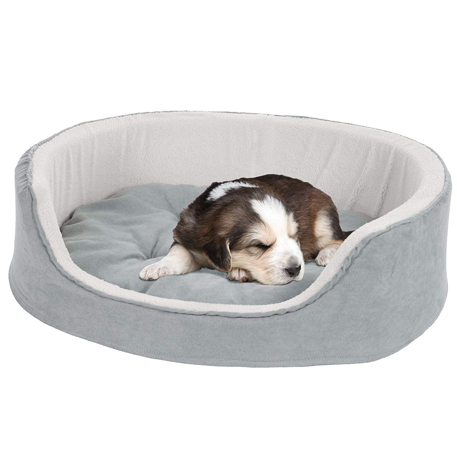 Petmaker Small Cuddle Round Microsuede Pet Bed Gray Hope That You Actually Like Our Picture This Is Our Affiliate Lin Grey Bedding Dog Bed Pet Beds