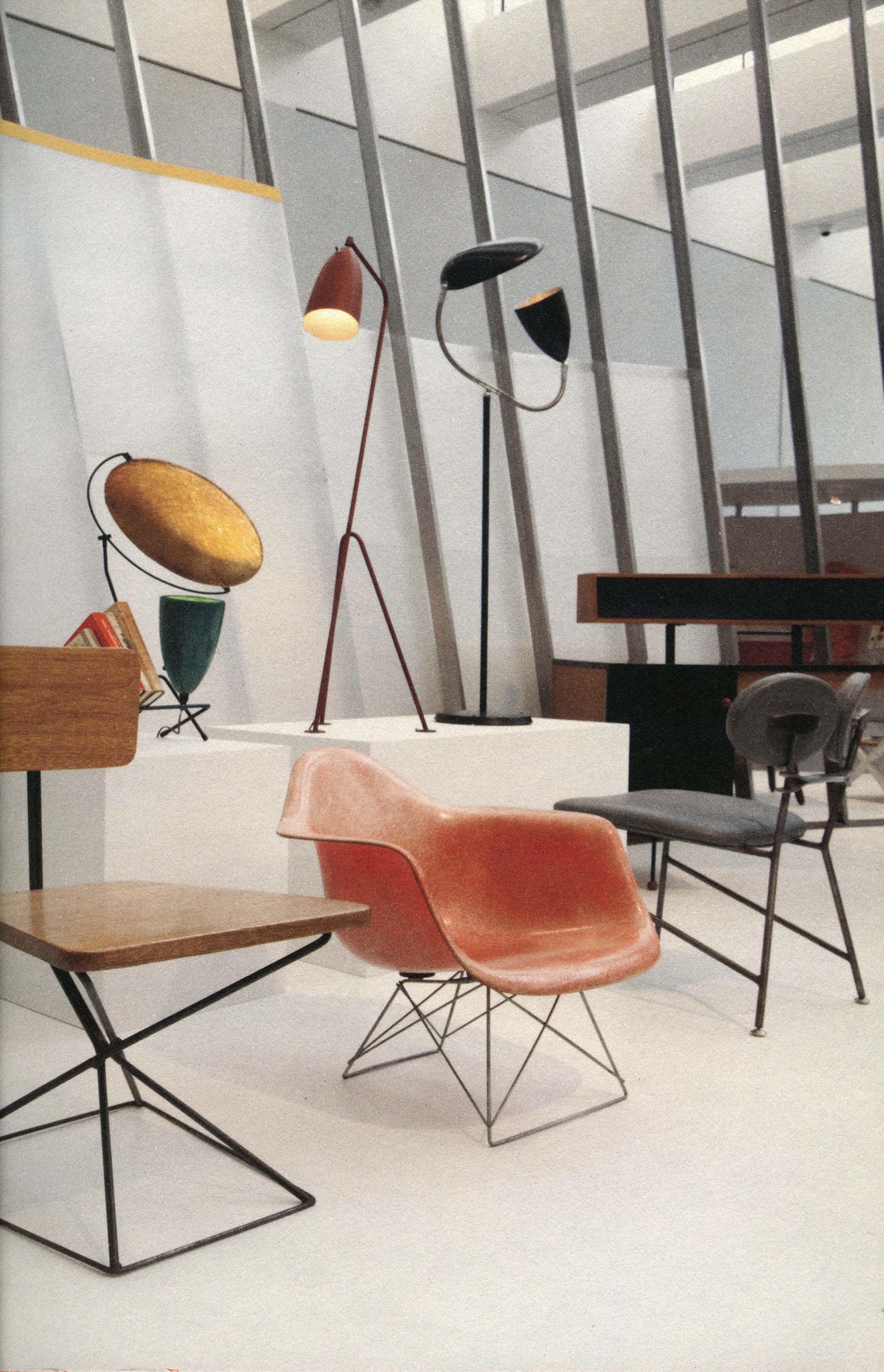 Eames fiberglass chair, the model known as LAR, on