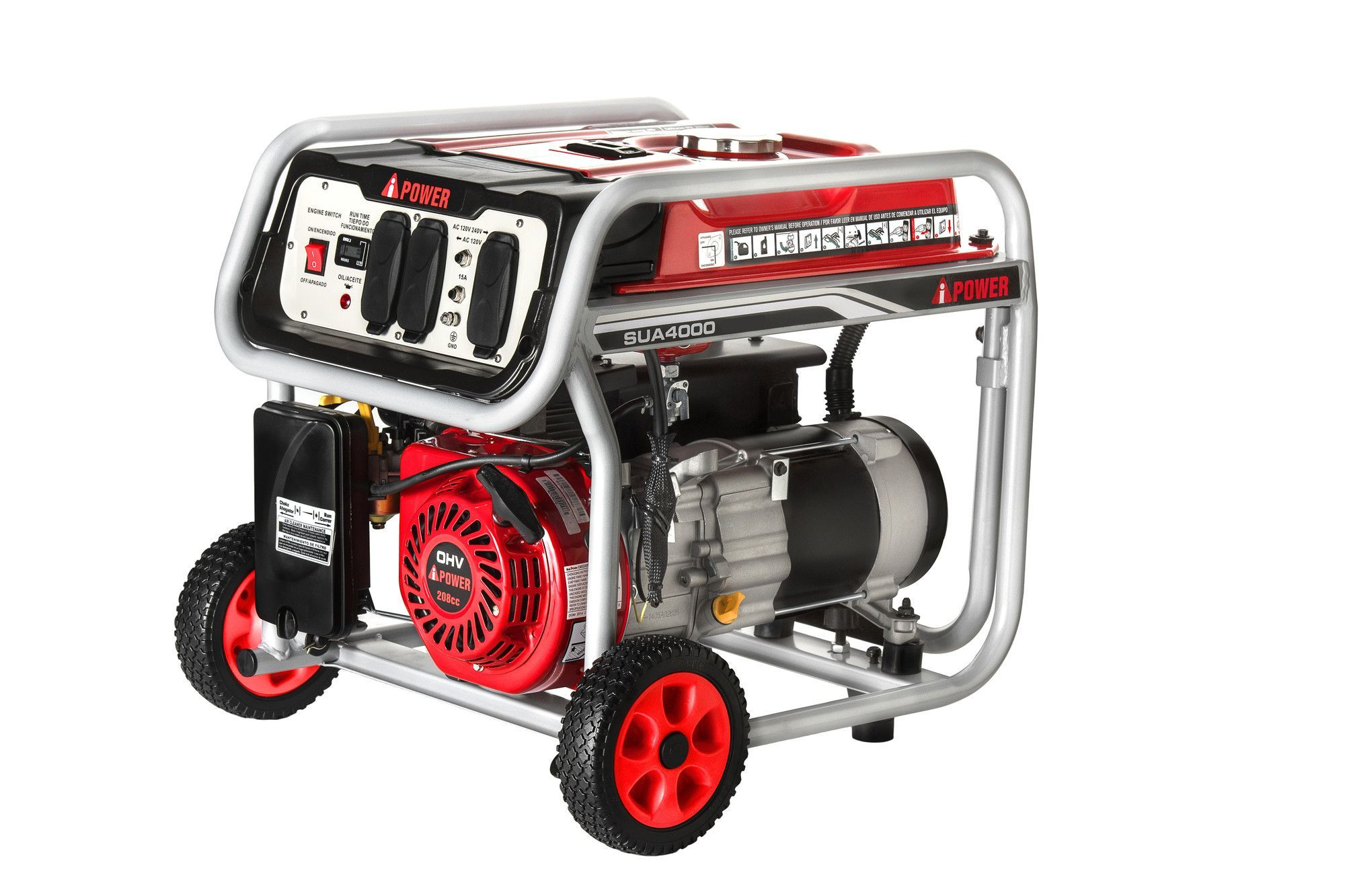 A iPower 4000W Recoil Start Gasoline Powered Portable Generator