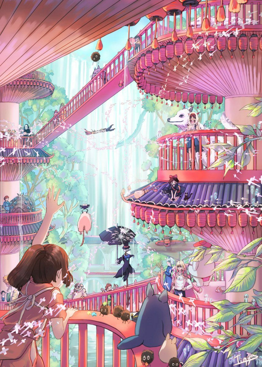 Studio Ghibli Anime & Manga Poster Print | metal posters - Displate | Displate thumbnail