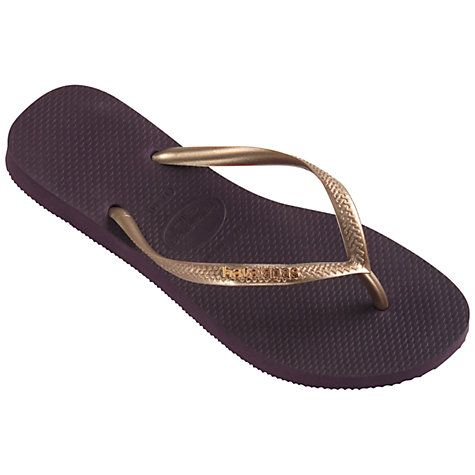 Havaianas Logo Metallic Flip Flops, BlackSilver | Metallic