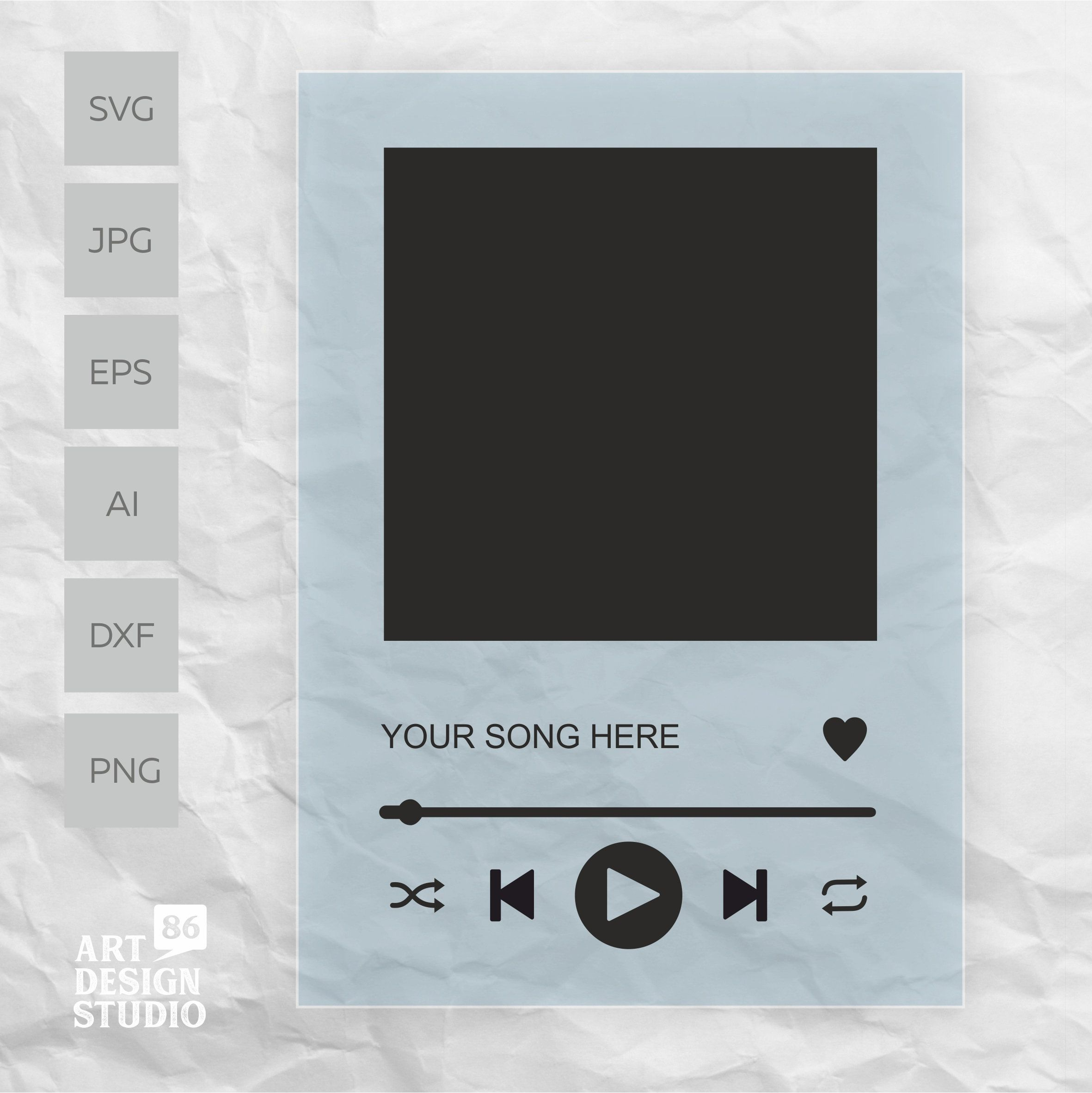 SPOTIFY song BUTTONS SVG for glass song posters Music