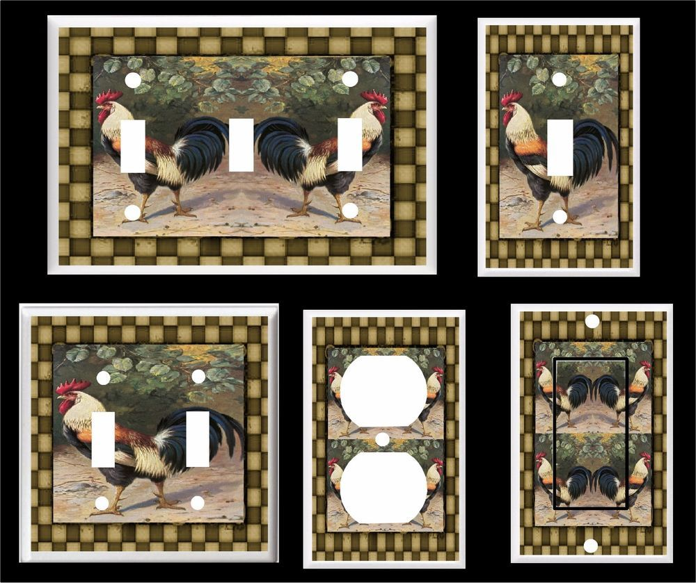 Country rooster primitive light switch cover plate # 1 home decor  sc 1 st  Pinterest & Country rooster primitive light switch cover plate # 1 home decor ...