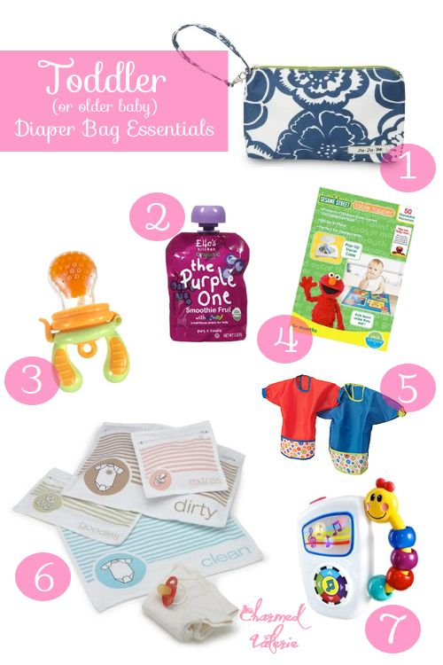Toddler Older Baby Diaper Bag Essentials Checklist