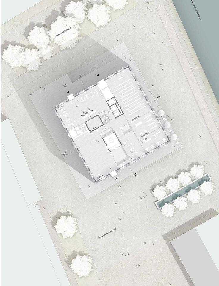 One 2nd Prize Bau eines Büro-, Wohn- und Galeriegeb...competitionline #architektonischepräsentation