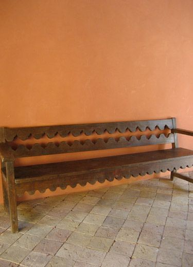 Enjoyable Mexican Colonial Bench Oaxaca Tables Chairs And Benches Ocoug Best Dining Table And Chair Ideas Images Ocougorg