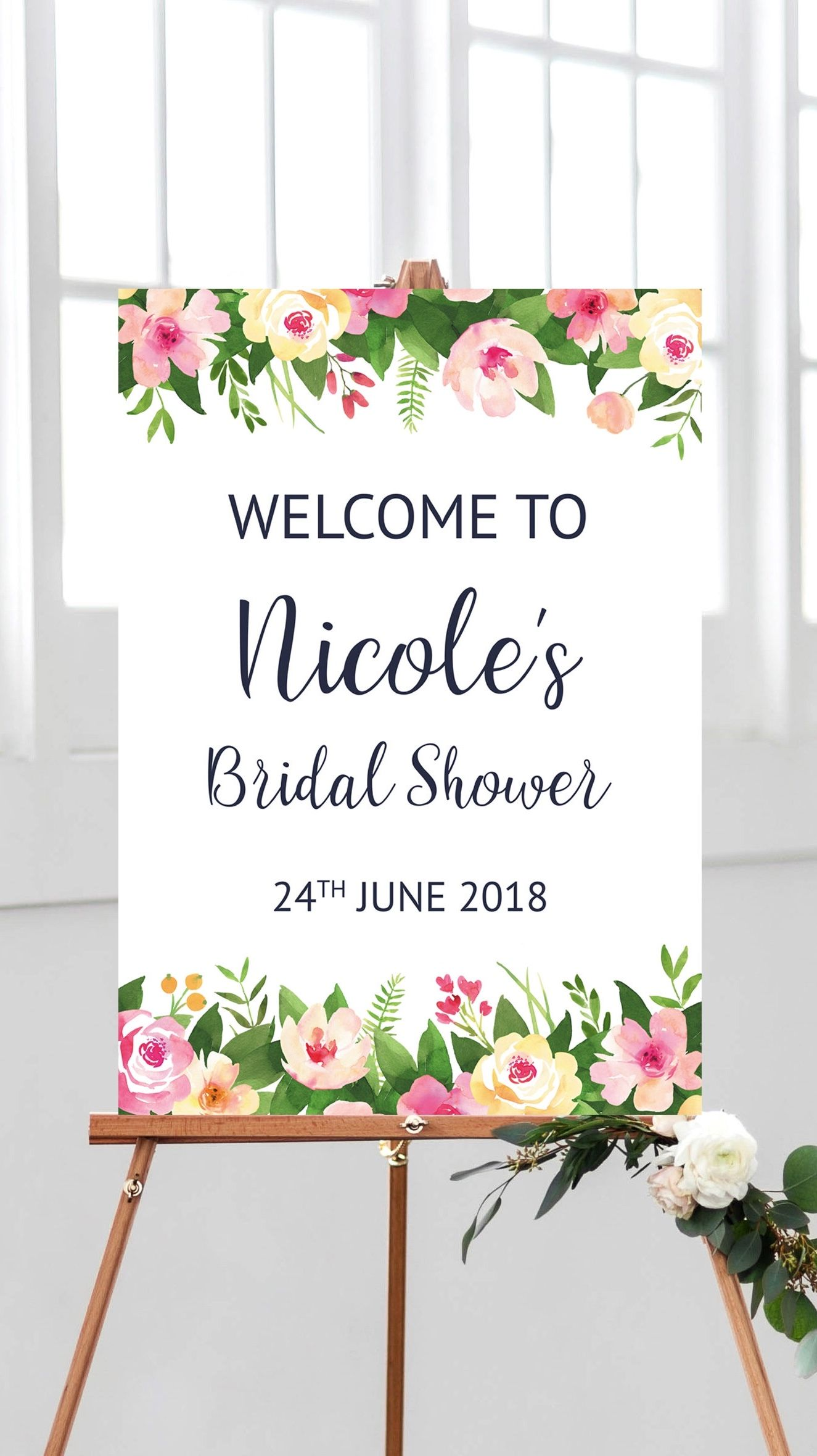 graphic about Printable Bridal Shower Signs identified as Welcome bridal shower indicator printable bridal shower