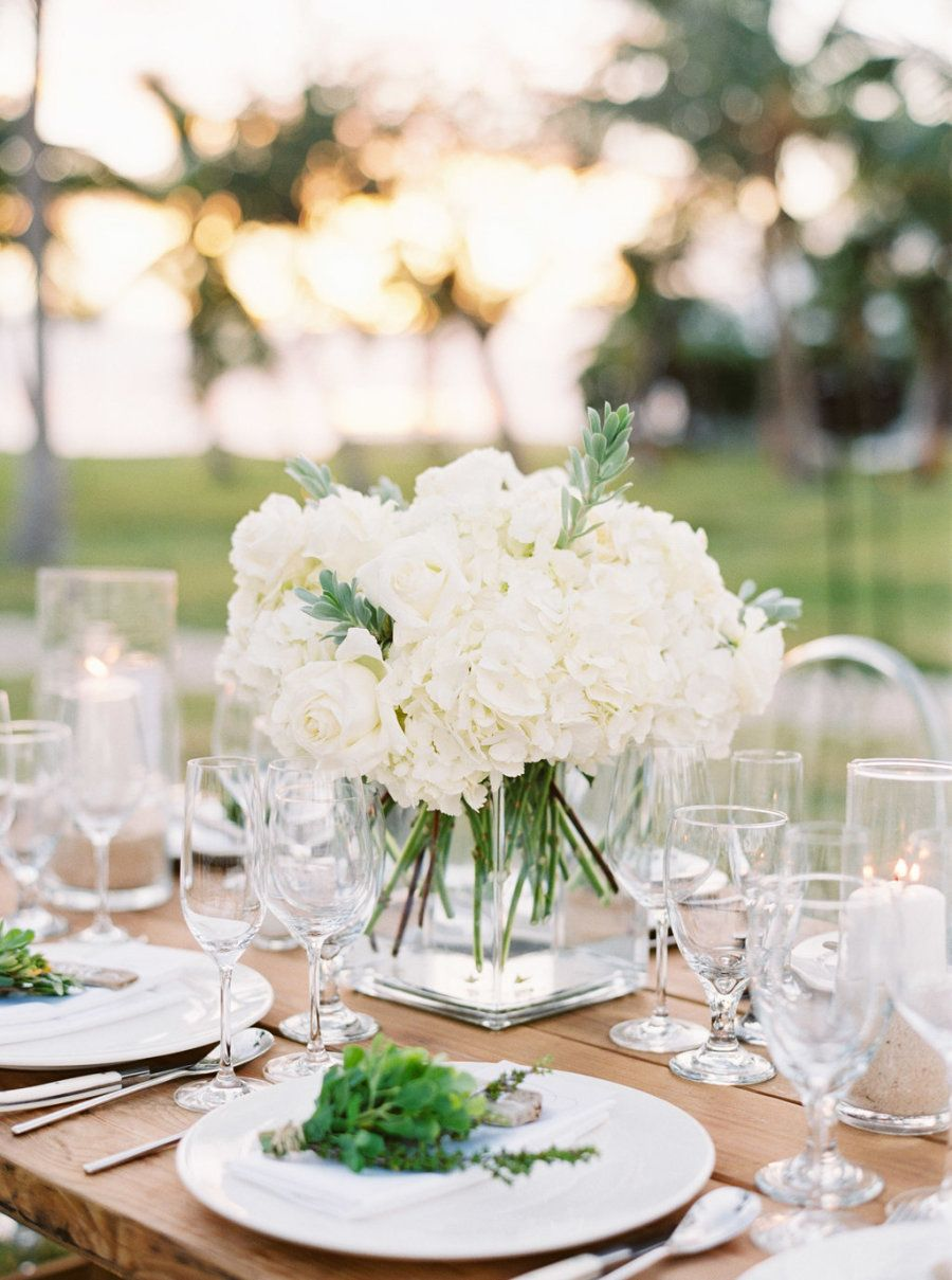 Romantic White Destination Wedding in the Bahamas from Hunter Ryan ...