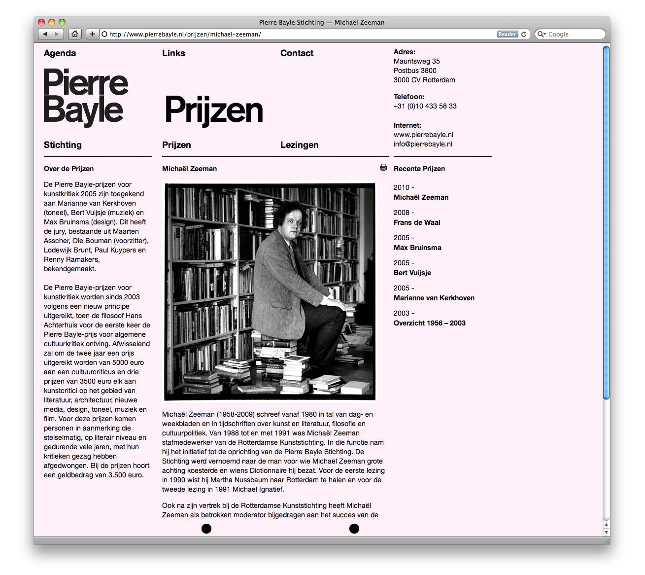 Httpalmostmodernpierre bayle website layout design structured anarchy almost modern designs and creates printed matter based in rotterdam the netherlands voltagebd Gallery