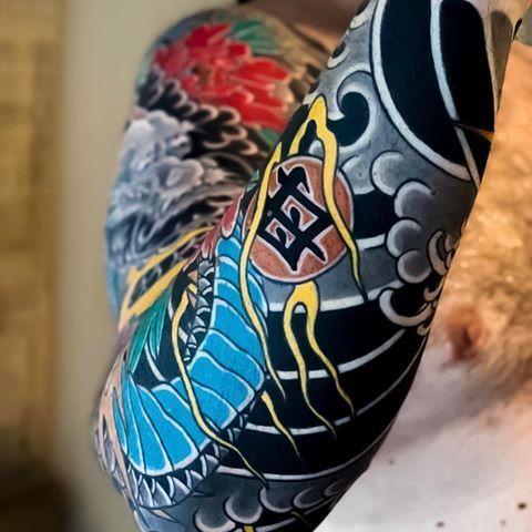 Japanische Tattoo Hülle von @artemiy_neumoin. #japaneseink #japanesetattoo #irezum ...,  #art...