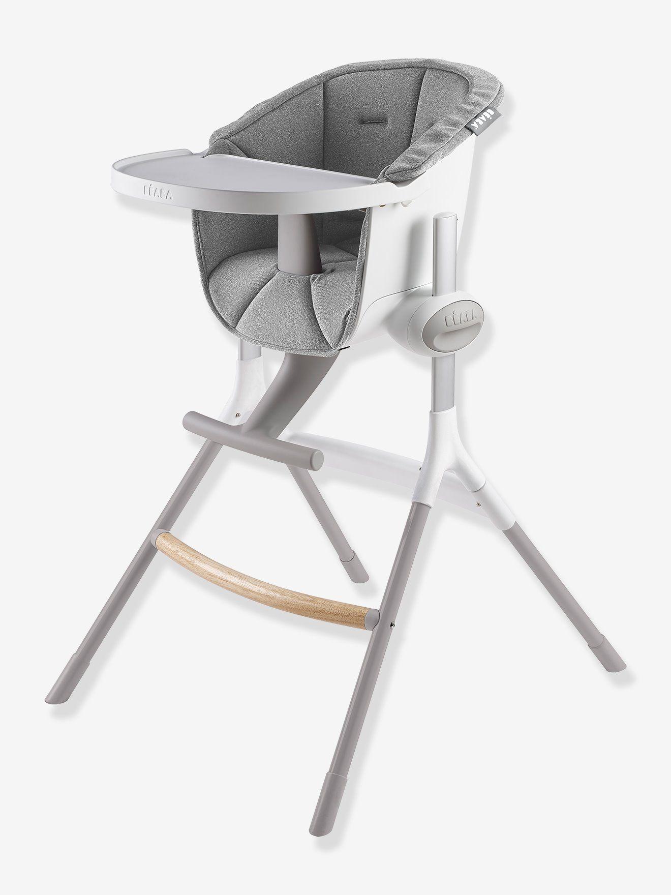 Coussin D Assise Pour Chaise Haute Beaba Up Down Gris Ergonomique Et Hygienique Ce Coussin D Assise S Adap Chaise Haute Chaise Haute Evolutive Meuble Bebe