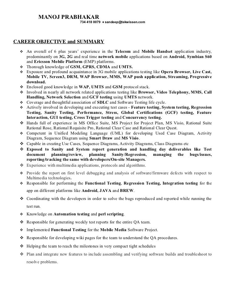 Manoj resume Teter resumes Sample resume, Resume objective, Resume