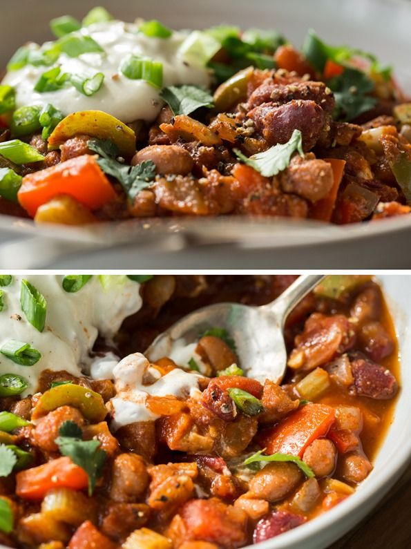 My Favourite Vegan Chili With Homemade Sour Cream Recipe Vegan Chili Homemade Sour Cream Whole Food Recipes