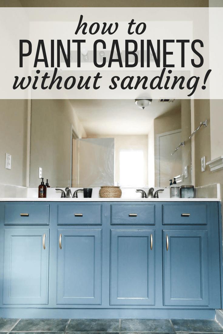 How to paint a vanity using RustOleum's