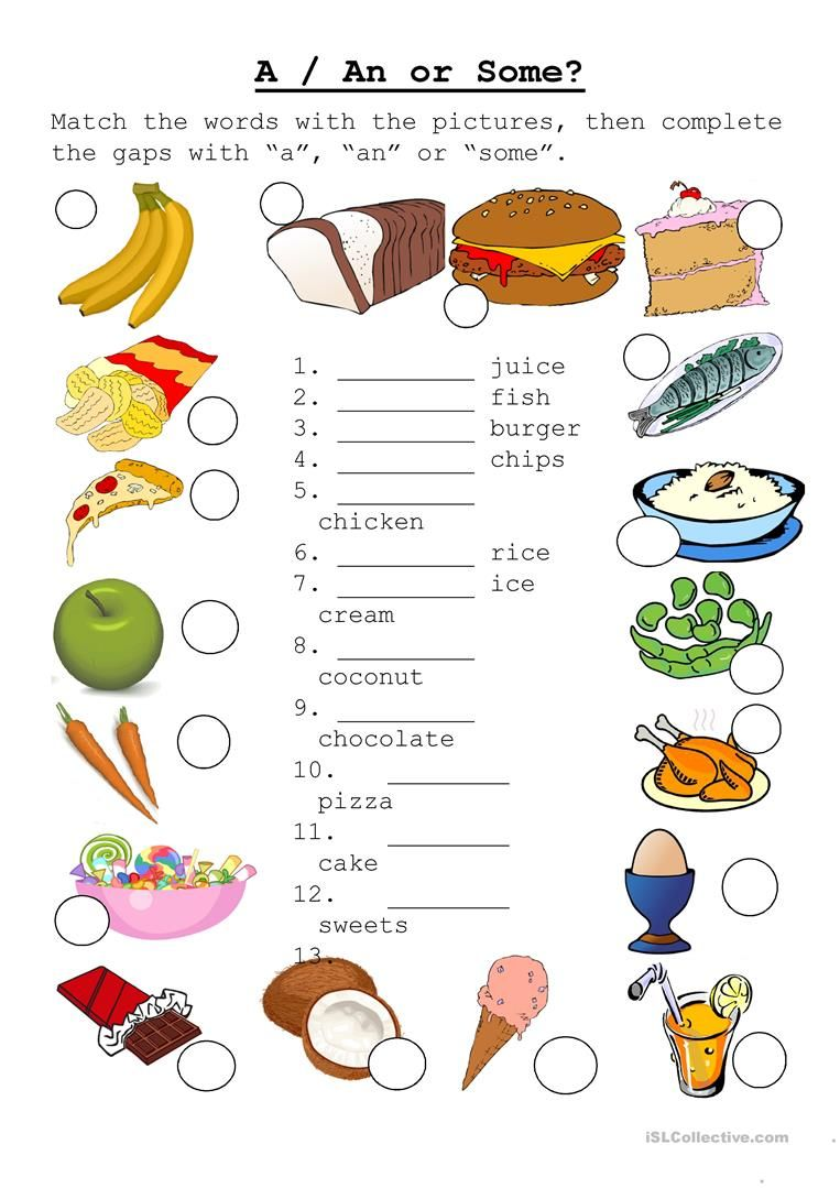 A/AN OR SOME worksheet - Free ESL printable worksheets made by ...