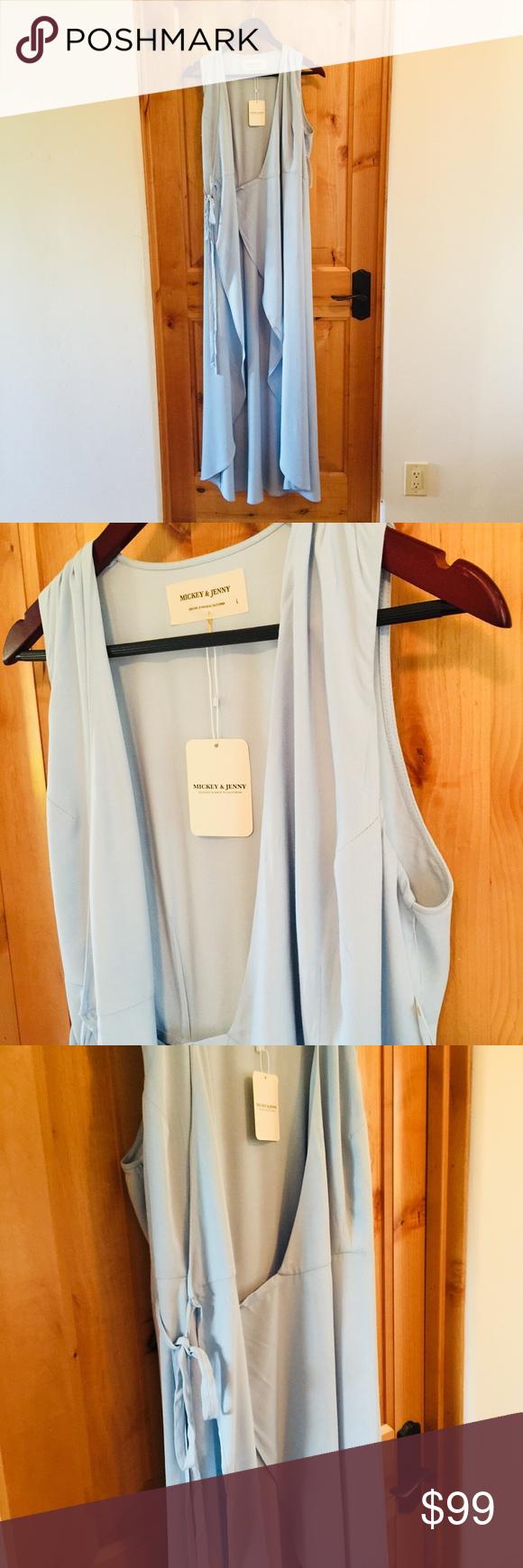 be082a3f31 Mickey   Jenny Suzette Sleeveless Wrap Dress (NWT) Mickey   Jenny Suzette  Sleeveless Light
