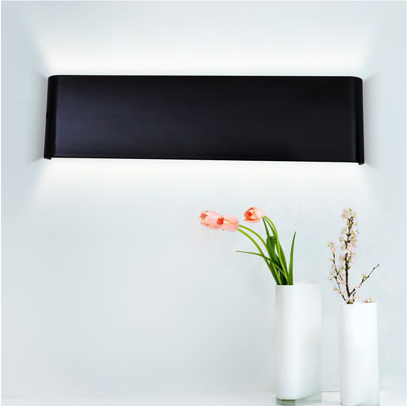 LED Aluminum 6W AC85-265V White /Black Indoor IP44 LED Wall Lamp