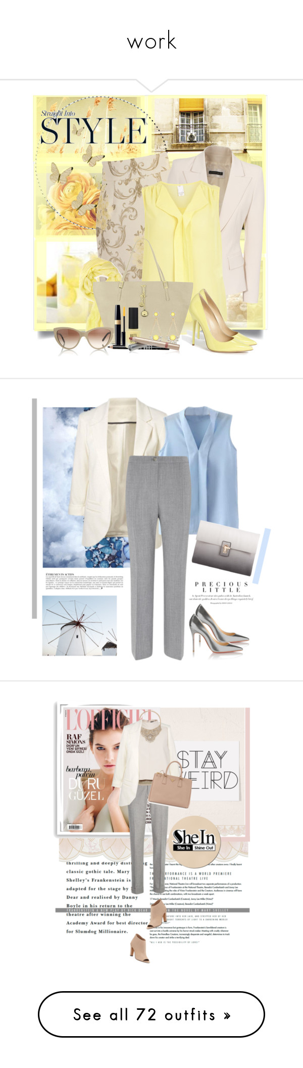 """""""work"""" by loraine-squared ❤ liked on Polyvore featuring Milly, Plein Sud, VILA, Jimmy Choo, Forever 21, Blugirl, River Island, STELLA McCARTNEY, Lord & Berry and Topshop"""