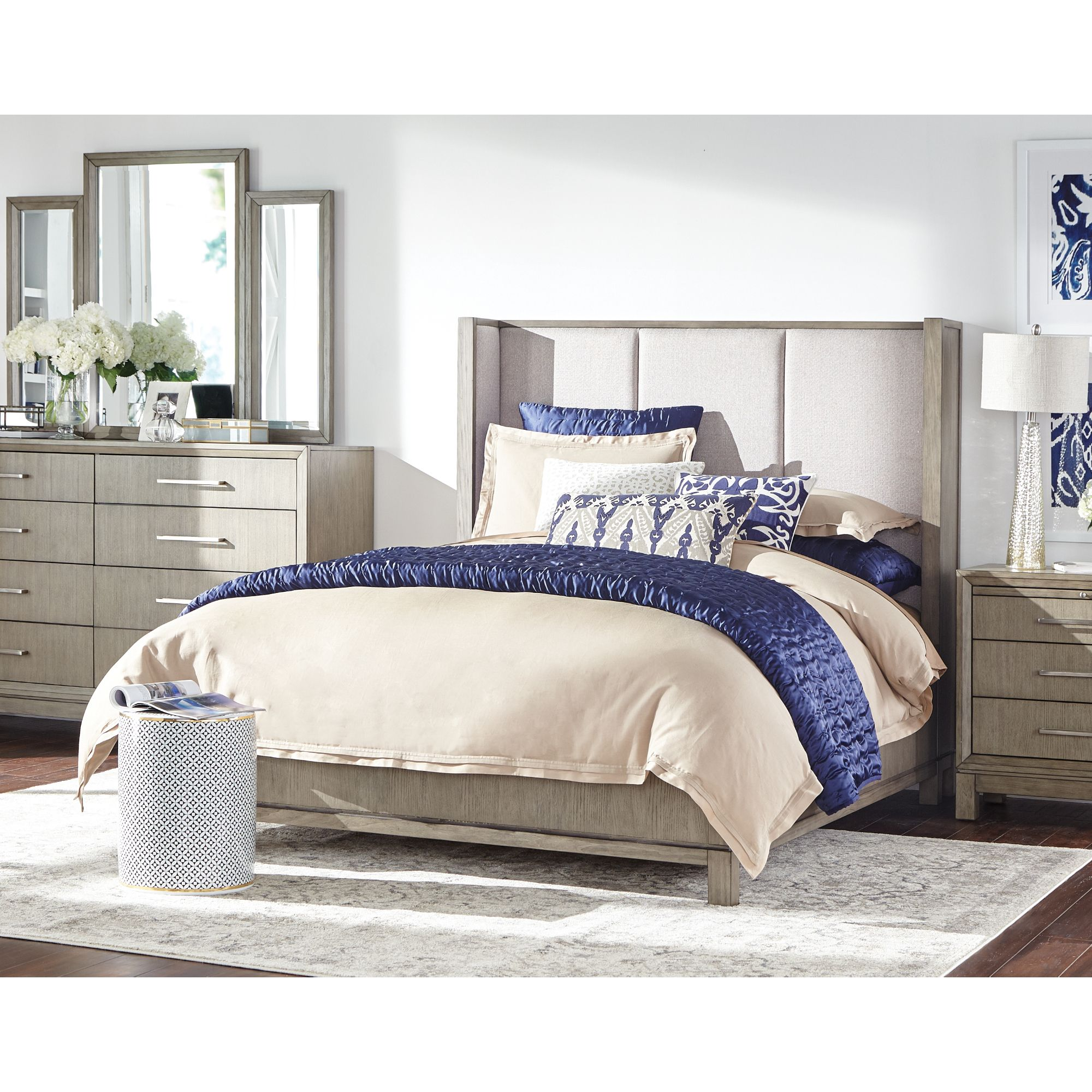 Bring a laidback romantic elegance to your bedroom when