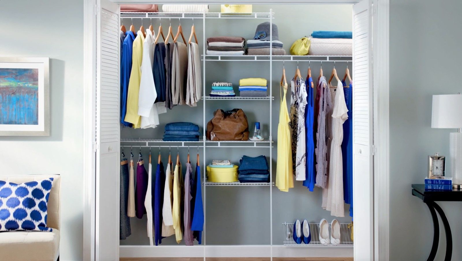 A Wire System In Your Closet Makes Sorting And Storing Your Favorite  Outfits Effortless! Purchase