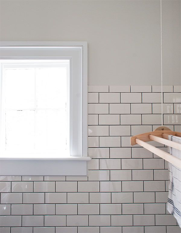 These are American Olean white subway tiles, and the grout is TEC ...
