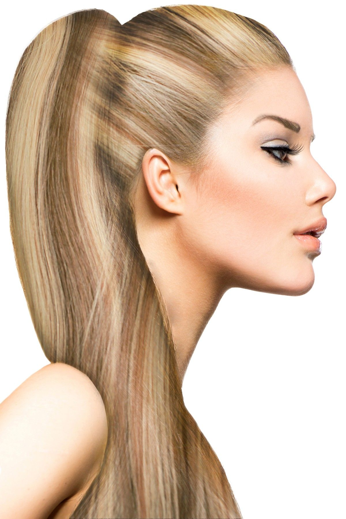 Celebrity Strands | 21 Clip-In Extensions 100% Remy Human Hair - #P8/24 Blonde and Light Blonde Highlights | HauteLook #humanhairextensions