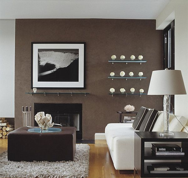 5 Easy Living Room Makeover Ideas | Brown accent wall, Living ...