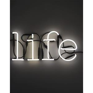Luci Al Neon Per Ufficio.Vendita Online Seletti Lampade Da Parete Scritta Life Neon Casa