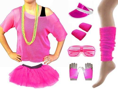 80/'s Style Festival Leg Warmers Neon Colours Concert Fancy Dress Hen Night