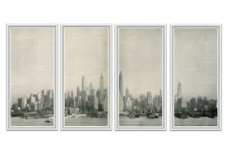 Filicia, Manhattan Skyline, Set of 4