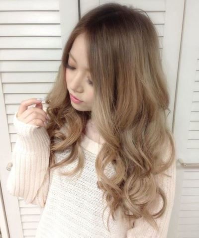 Light Ash Brown With Blonde Curly Hair Color Asian Hair Styles