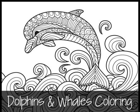 We Have A Brand New Set Of Dolphins And Whales Coloring Printables