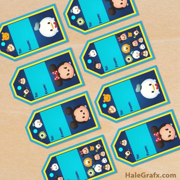 Free Printable Disney Tsum Tsum Gift Tags