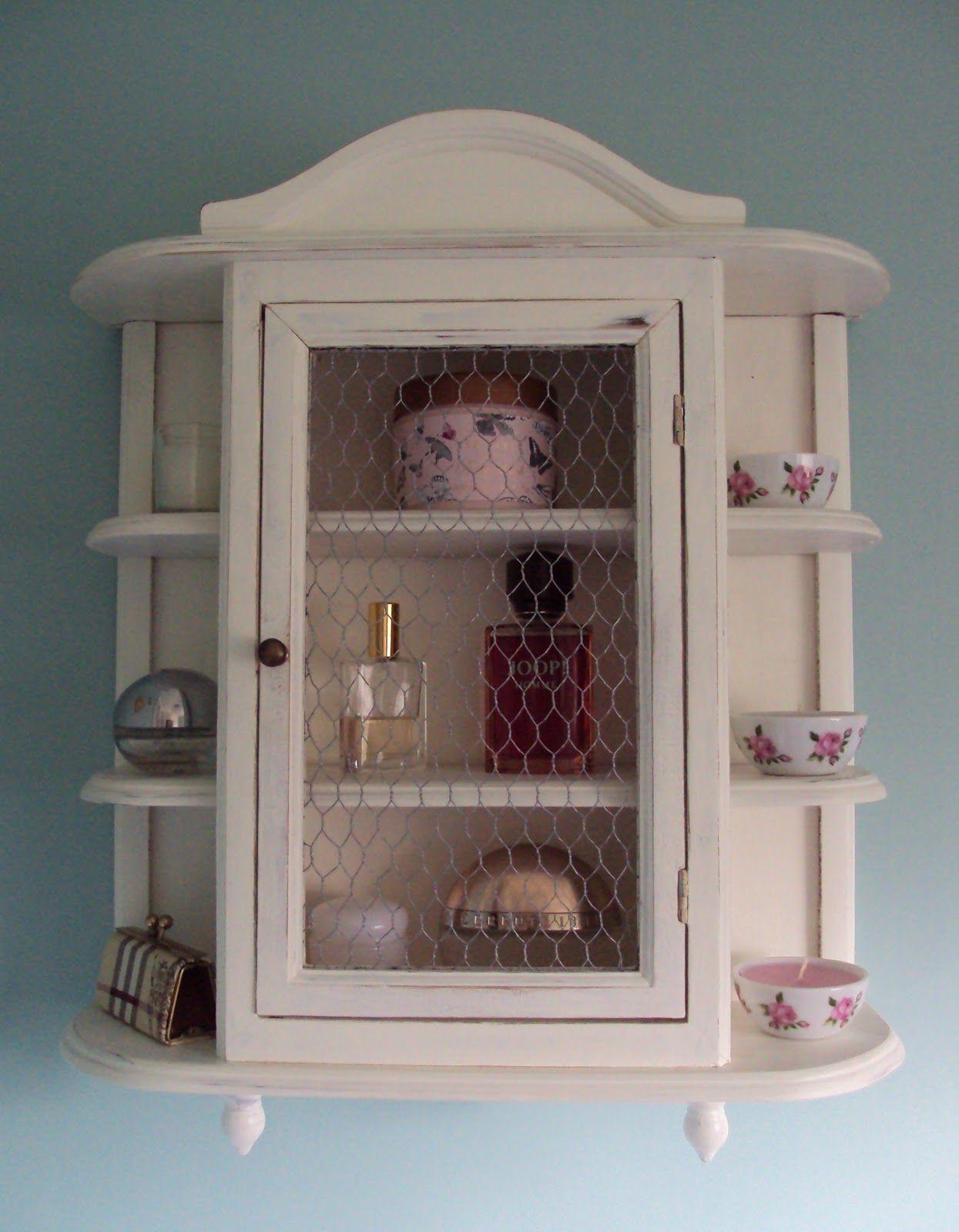 ThePaintedCameo: Shabby Chic Bathroom Cabinet Part 10