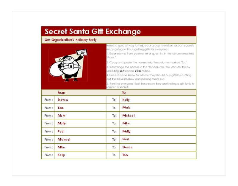 Free Secret Santa Generator Gloria Pinterest Christmas List
