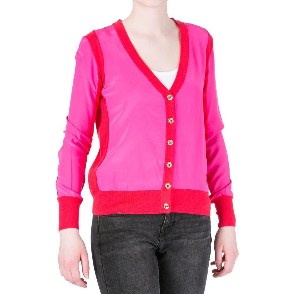 Juicy Couture Black Label Womens Mixed Media Colorblock Cardigan Top