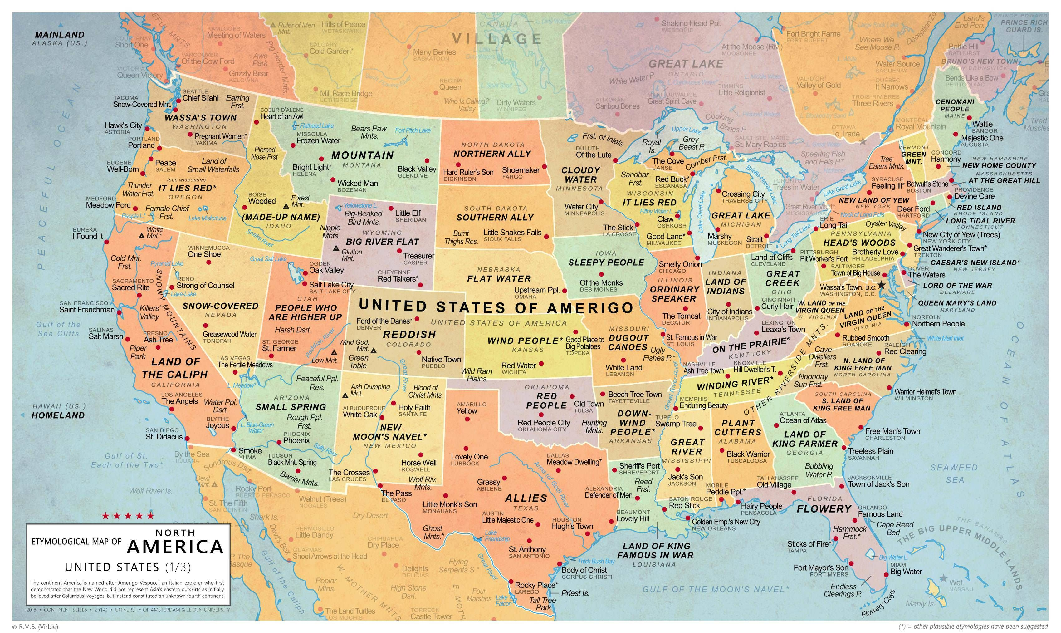 Etymological Map of the United States of America (North ... on missouri map, caribbean map, europe map, blank map, us state map, arkansas map, mississippi map, east coast map, nevada map, the world map, texas map, full size us map, canada map, the us map, africa map, 13 colonies map, tennessee map, florida map, mexico map, great lakes map,