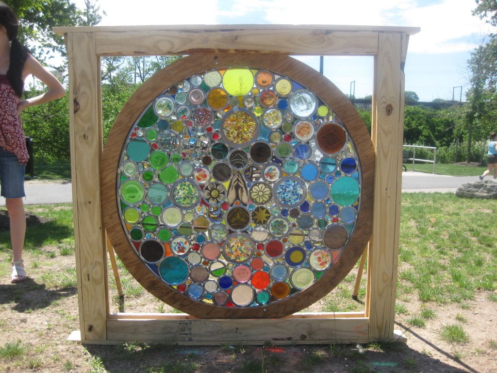 Psychedelic rose window kaleidescope by justin tyner hip for How to break bottom of glass bottle