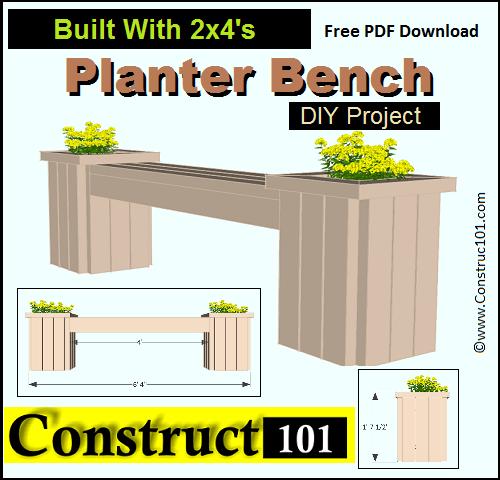 garden bench planter box. planter bench plans built with 2x4\u0027s (free pdf garden box s