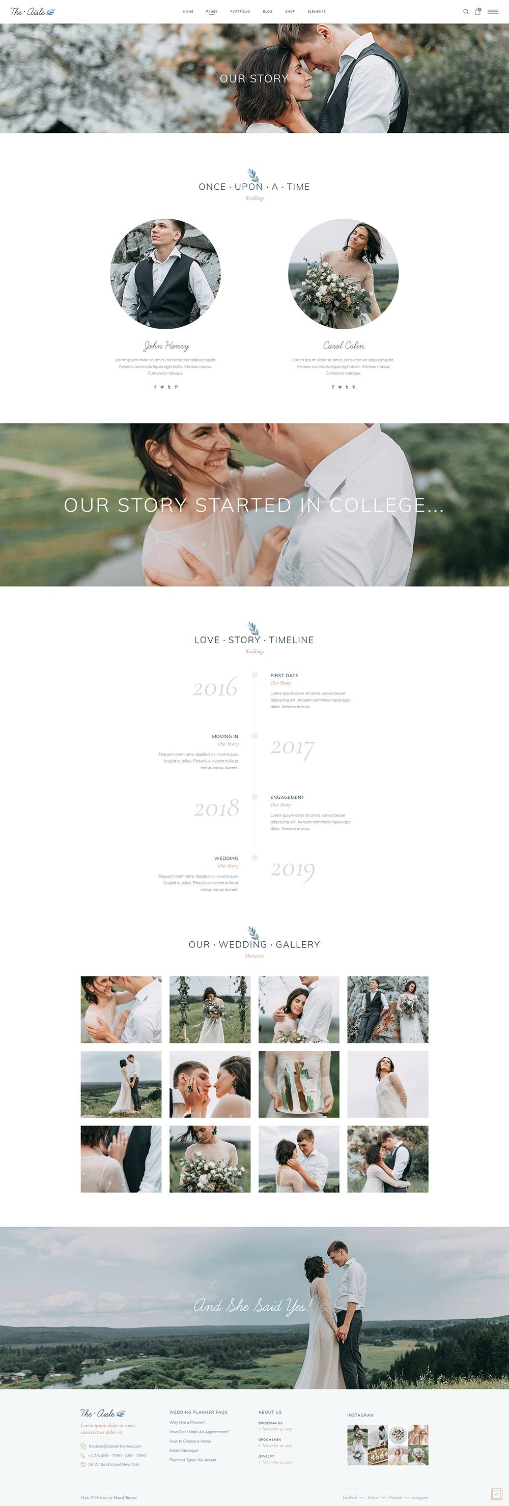 Our Story Wedding website examples, Best wedding