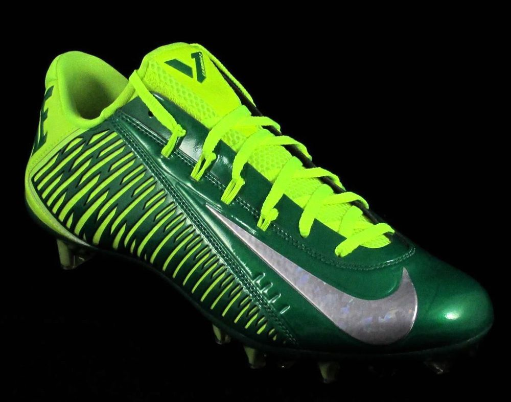 Mens Nike Vapor Carbon Elite 2.0 TD Football Cleats Green/Yellow Oregon