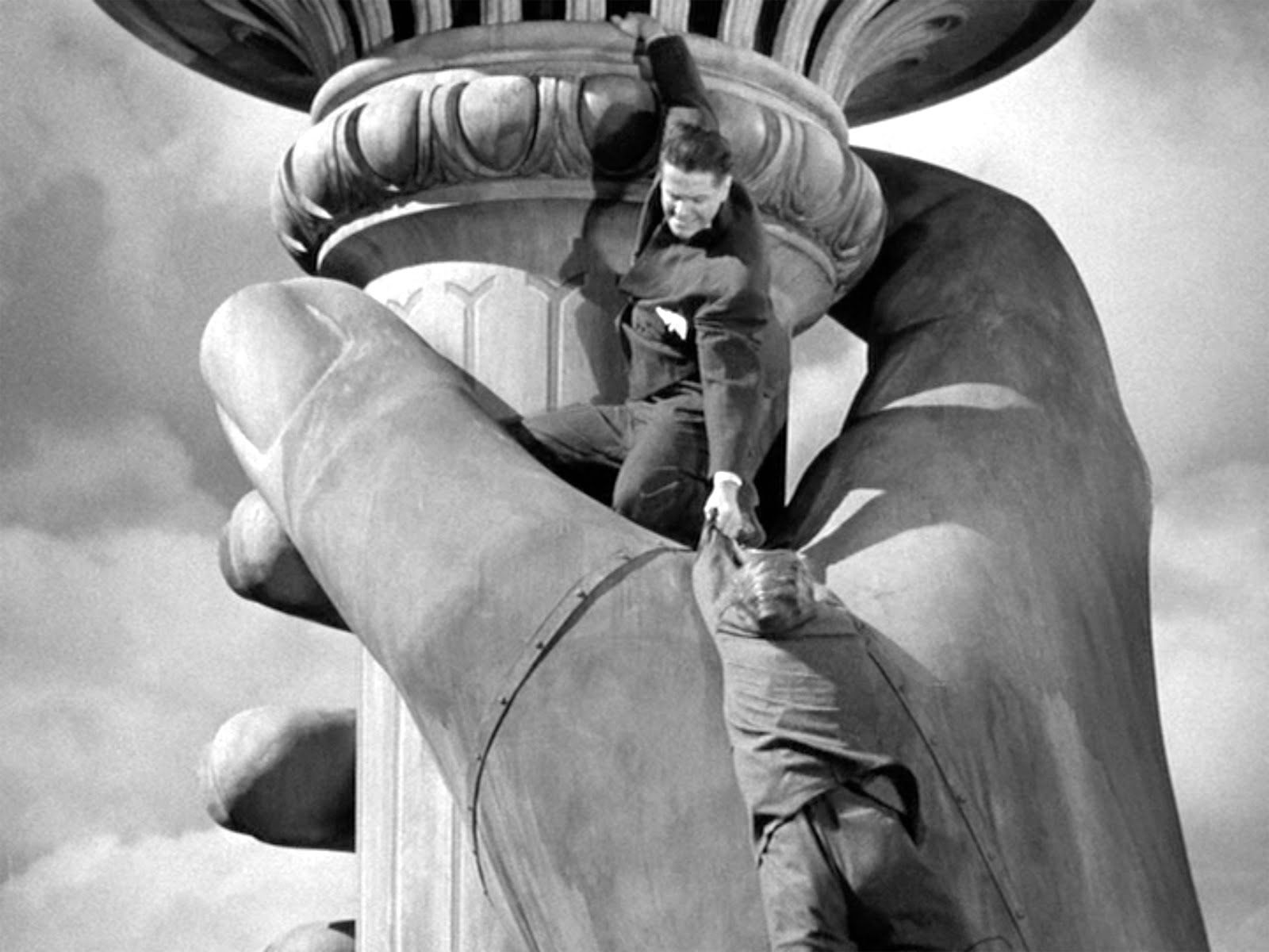 Image result for Saboteur (1942) statue of liberty
