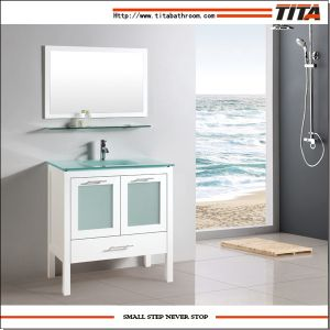 modern bathroom cabinet doors. White Modern Bathroom Vanities With ShelfHigh Quality Glass BasinWith Mirror And ShelfFour Doors Three DrawersCE Cabinet N