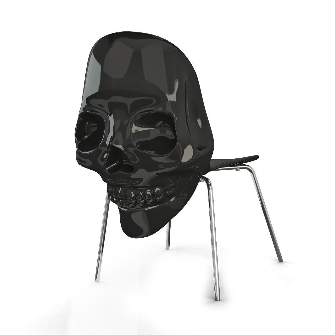 Black skull chair - 3dsmax Black Skull Chair 3d Model